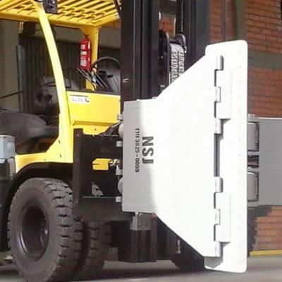 Garra hidráulica NSJ para movimentação de bobinas - Clamp mais indicado para o transporte e a movimentação de bobinas